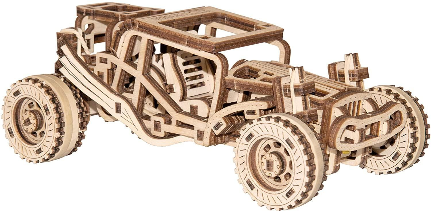 WoodenCity: Wooden Figures (Roadster Car)