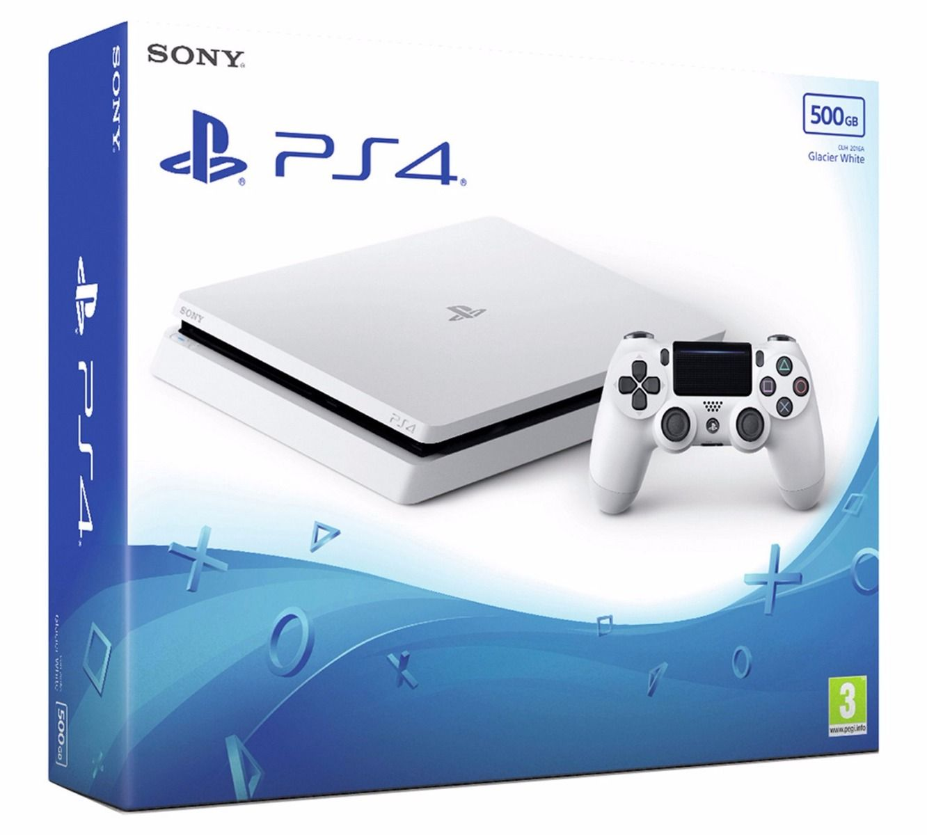 PlayStation 4 500GB Console - White (PS4)