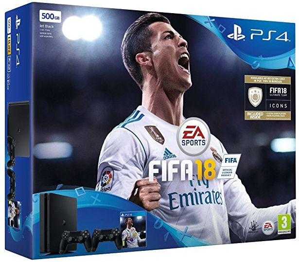 PlayStation 4 500GB Console with FIFA 18 (PS4)