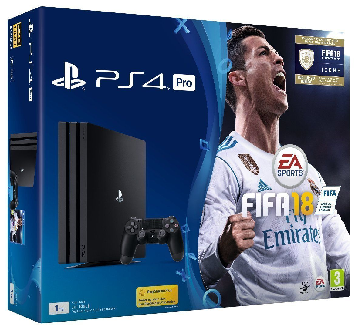 PlayStation 4 Pro 1TB Console With FIFA 18 (PS4)