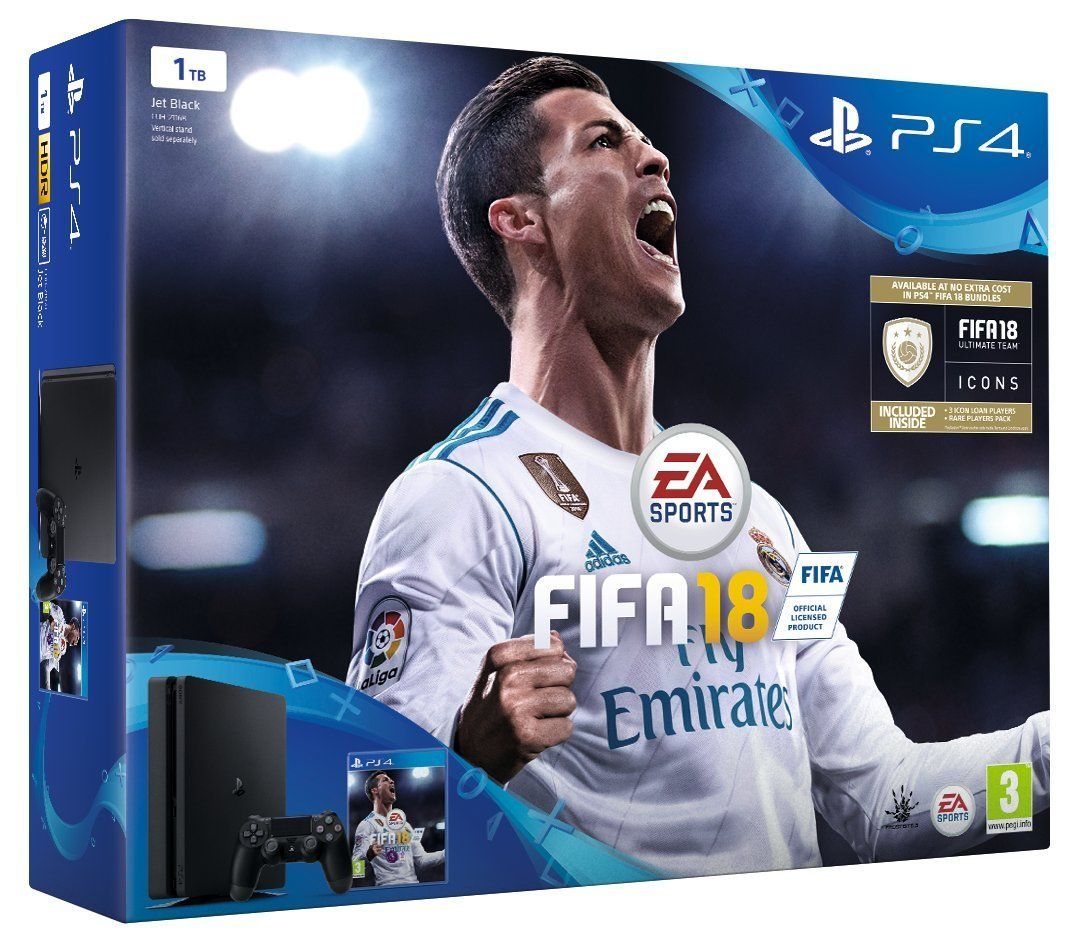 PlayStation 4 1TB Console with FIFA 18 (PS4)