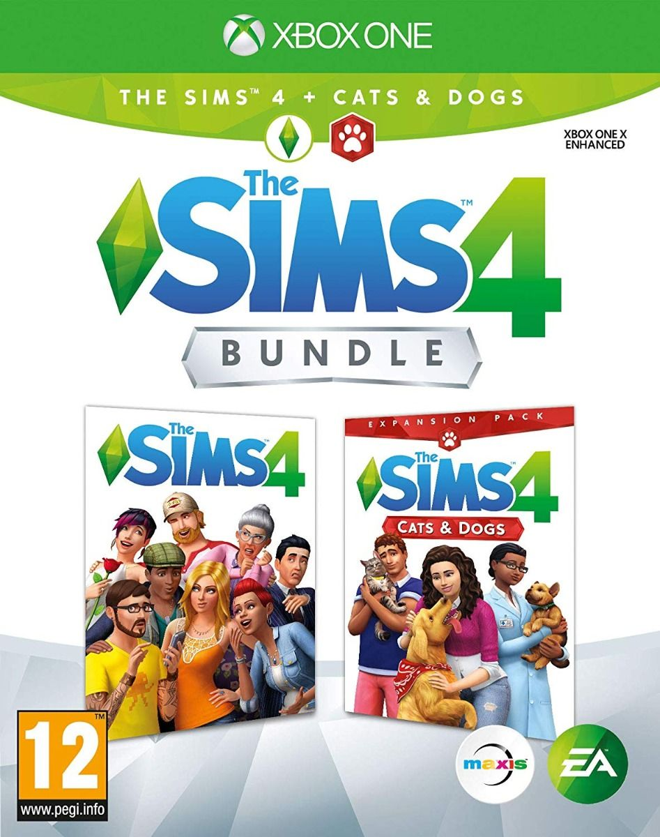 The Sims 4 Plus Cats and Dogs Bundle (Xbox One)