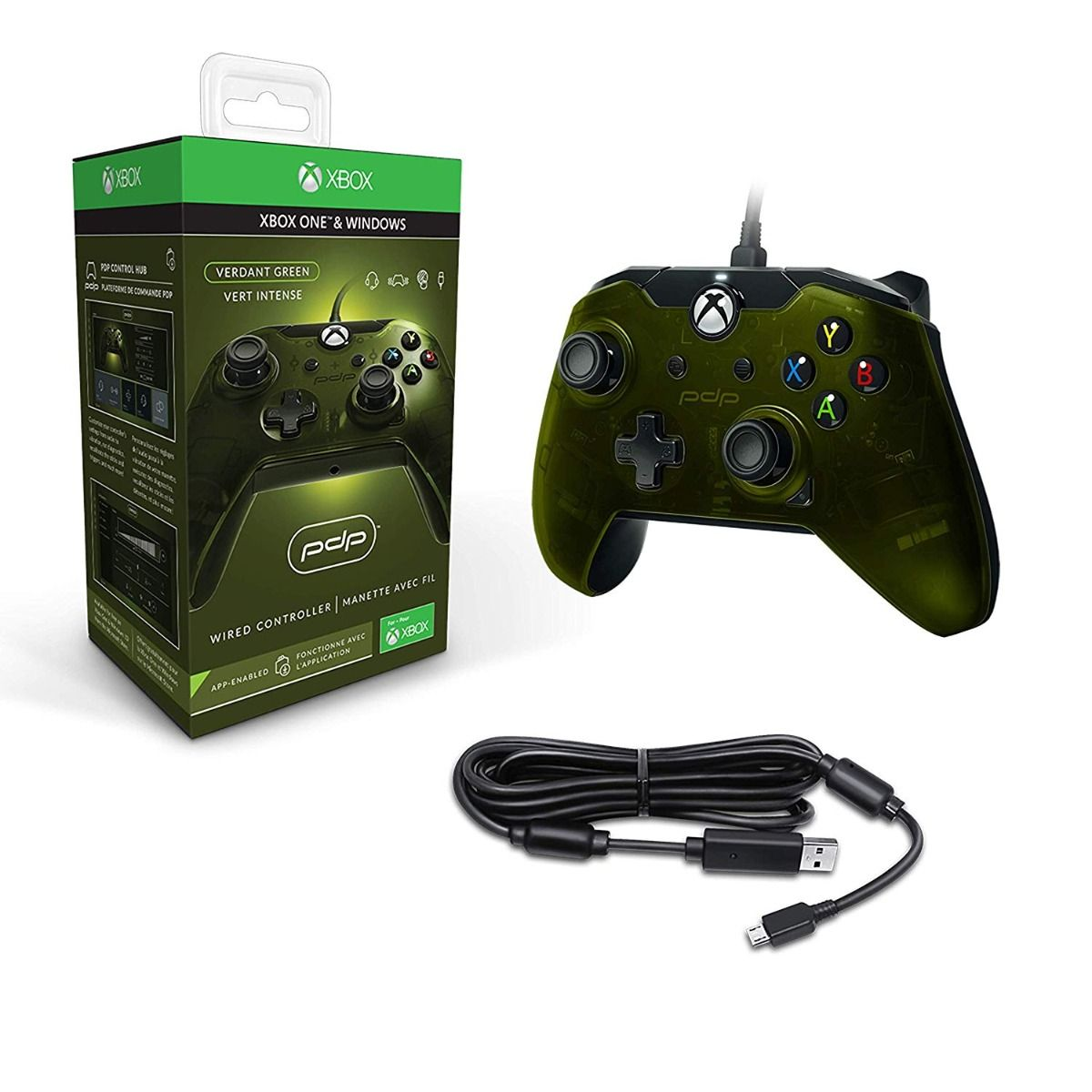 PDP Green Wired Controller (Xbox One)
