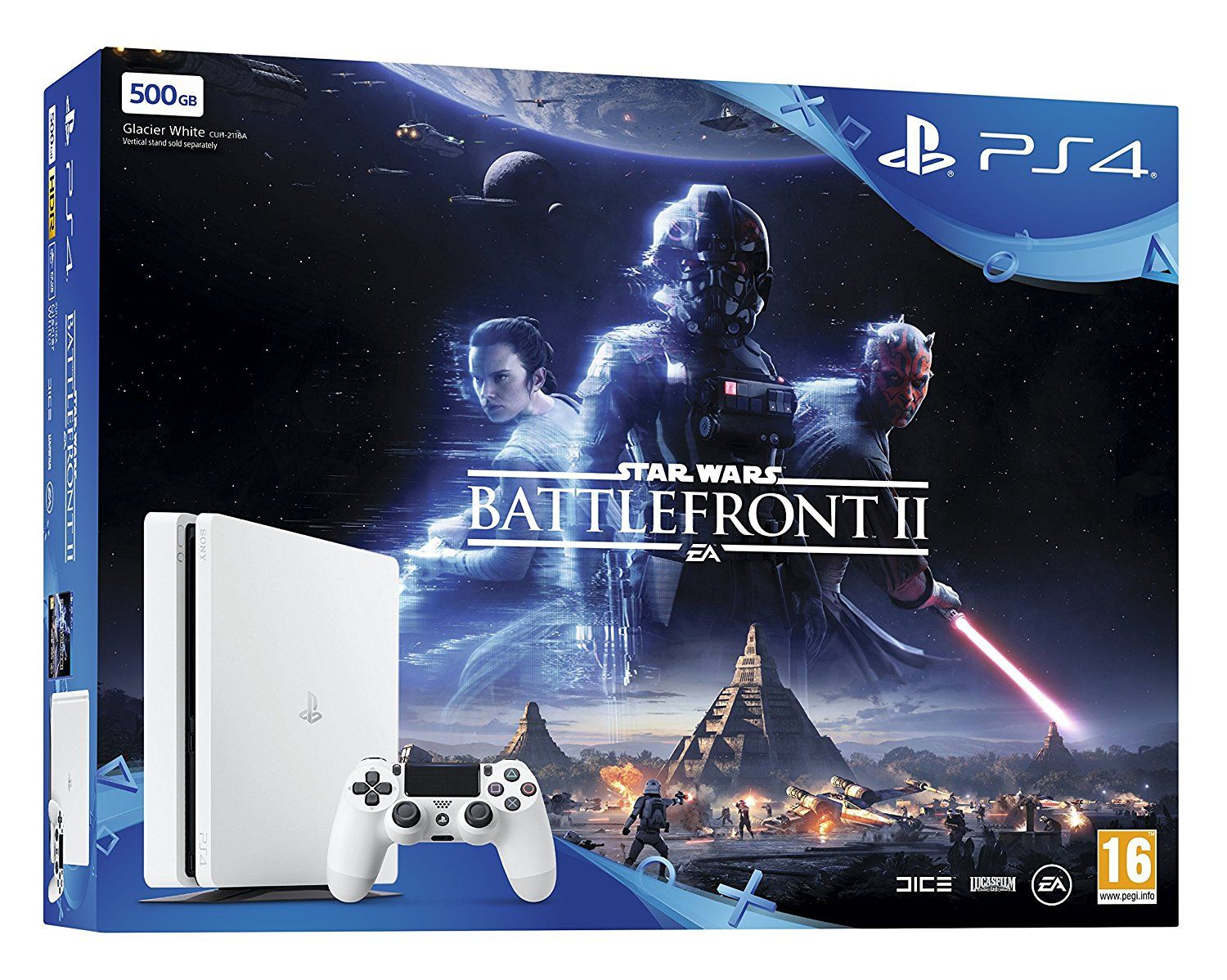 PlayStation 4 500GB with Star Wars: Battlefront 2 (PS4)