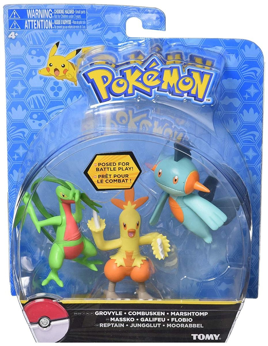 Pokemon Assorted Battle Pose Figures Triple Pack