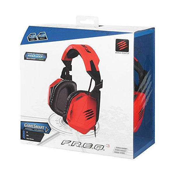 Mad Catz F.R.E.Q.3 3.5mm Stereo Headset Red (PC)
