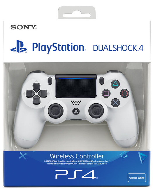 Sony Official PlayStation 4 Dualshock 4 Controller - Version 2 - White (PS4)
