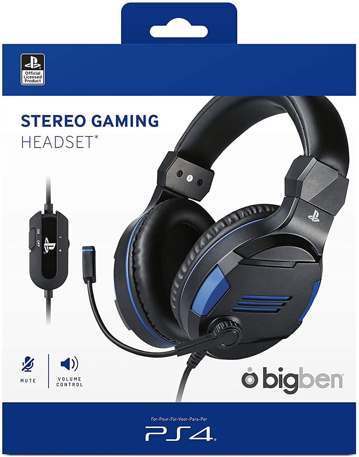 Bigben Stereo Gaming Headset V3 - Titan Black (PS4)