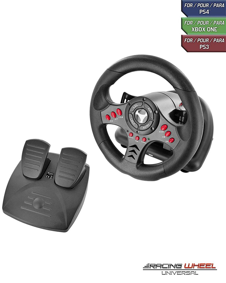 Subsonic Universal Racing Wheel with Pedals (PS4/Xbox One/PS3)