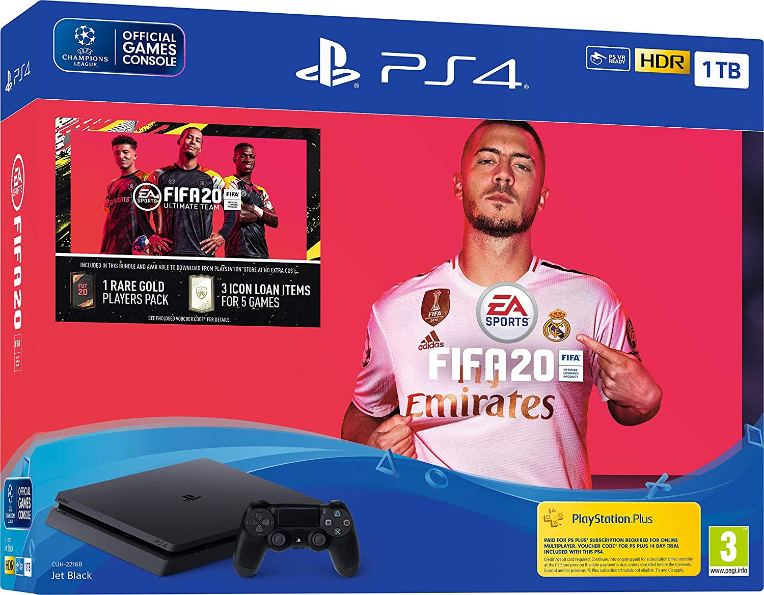 Sony PlayStation 4 Slim 1TB with FIFA 20 - Black (PS4)